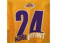 New Majestic Mens NBA Official Los Angeles Lakers Kobe Bryant Jersey T Shirt M