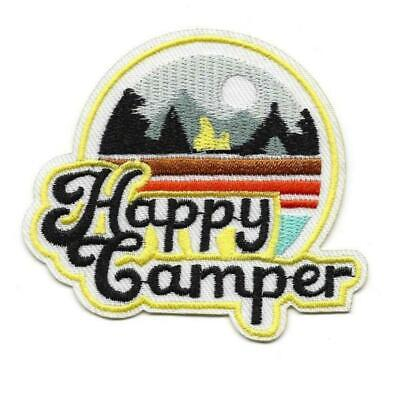 HAPPY CAMPER IRON ON PATCH 3.25