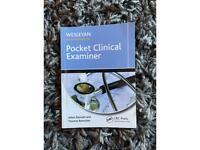 Pocket Clinical Examiner medical book.