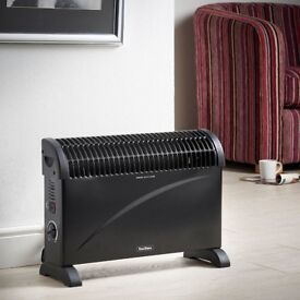 VonHaus Convector Heater 2000W Black – With Thermostat & 3 Heat Settings