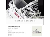 Yeezy Boost 350 v2 Zebra Size 9 UK