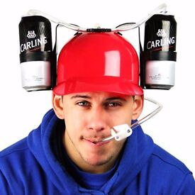 ****Novelty drinking helmet beer hat drink can holder soda hen party stag do game****