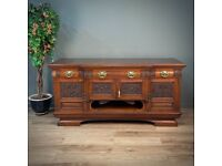Attractive Very Large Antique Victorian Heavily Carved Pollard Oak Sideboard