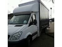 Mercedes sprinter luton tail lift curtain on one side