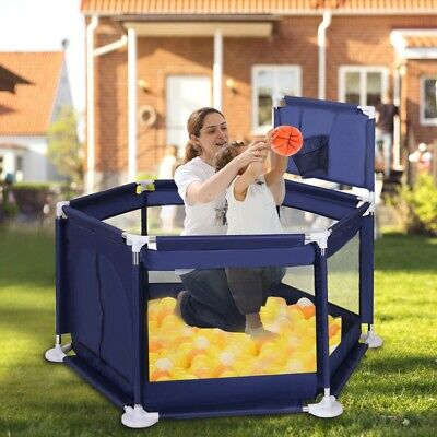 Baby Playpen Kids Safety Panel Play Center Yard Home Indoor Outdoor Fence NEW US