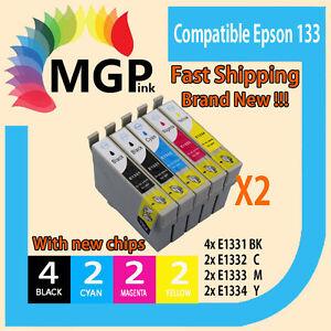 10x GENERIC INK cartridges T133 for Epson Stylus N11 NX125 NX130 NX230 NX420