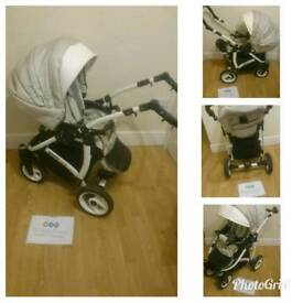 SALE MASSIVE STOCK CLEARANCE stunning reversible white lux pram