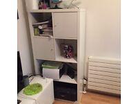 Ikea kallax white gloss with two doors