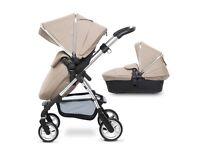 silver cross wayfarer sand pram pushchair with car seat