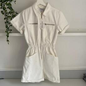 White Denim Playsuit, brand new with tags