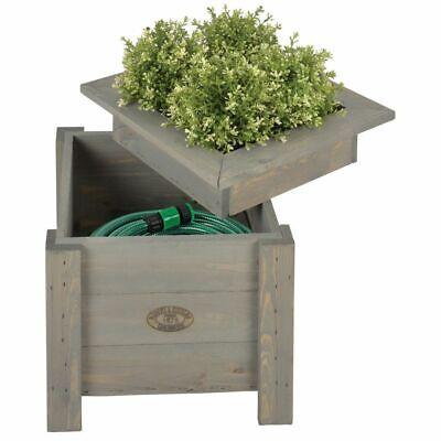 Esschert Design 2-in-1 Planter with Hose Storage Garden Flower Pot Box NG47