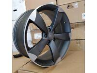 *MASIVE DISCOUNT* 19″ Audi TTRS Style Wheels – Satin Gun Metal / Machined – Audi A3 A4 A6 A8 – 5×112