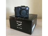 Fuji X-T10 Camera Body Black. Mint Condition.