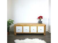solid mango wood coffee table