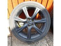 17 inch alloy wheels & tyres x4