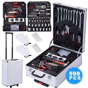 New 599 PCS Tool Set Mechanics Tool Kit Wrenches Socket w/Trolley Case - BRAND NEW - FREE SHIPPING