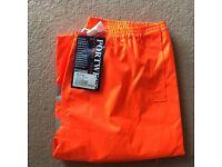 *NEW* Portwest Hi Vis Traffic Trousers RT31 LARGE