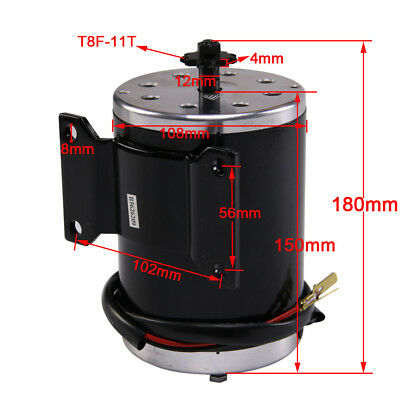 1000w 48v Dc Brush Electric Motor With Bracket T8f For Scooter Minibike 3000rpm