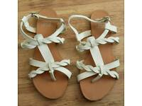 Womens/Girls white F&F sandals size 4