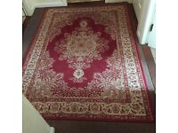 Traditional Style Red Rug in excellent clean condition.