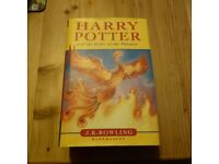 HARRY POTTER and the Order of The Phoenix first edition.