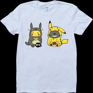 My neighbor totoro pokemon mens white custom made t shirt for My custom t shirt