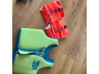 Zogg swim vest plus arm bands