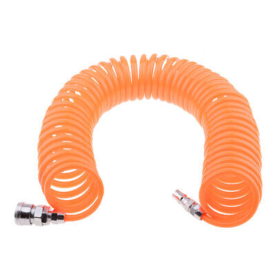 20ft POLYURETHANE RE COIL AIR HOSE Fittings Recoil with 1//2/'/' Swivel