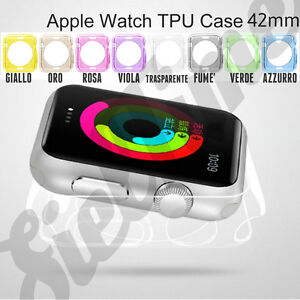 Per-Apple-Smart-Watch-42mm-BUMPER-CASE-COVER-CUSTODIA-IN-GOMMA-TPU-GEL-SILICONE