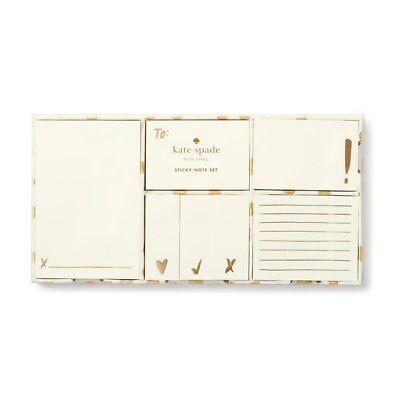Kate Spade - Sticky Note Set - Gold Flamingo Dot