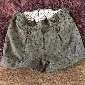 9-12 months girls shorts