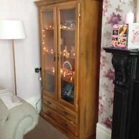 Solid Oak Display Cabinet Dresser