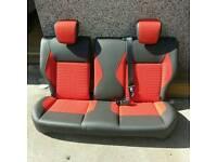 Fiesta ST half leather rear seats