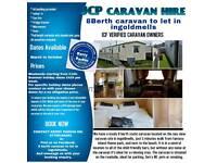 8 berth caravan to rent in Ingoldmels