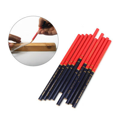 10pcsset Blue And Red Wire Round Carpenters Pencils For Woodworking Core Marker