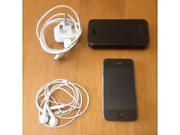 Iphone 4S 32GB - Black - Factory Unlocked - Headphones, Charger, Case Included for sale  London