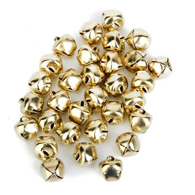 Metal Jingle Bells for Christmas Decoration Craft making 10mm 100pcs Golden R2T9