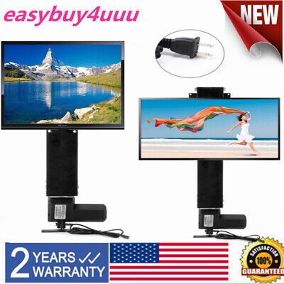 LCD Motorized Flat TV Lift 14''-32'' Screen Mount Remote Control 20'' Stroke USA