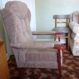 HSL winged armchair excellent condition