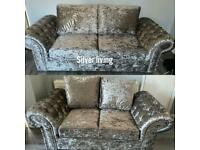 Brand new chunky 3+2 chesterfield sofas set £799 free delivery