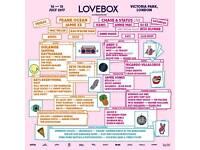 Selling 2x Lovebox Friday Tickets