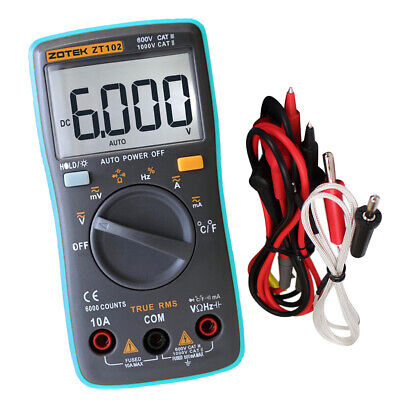 6000 Counts Auto Ranging Digital Multimeter Trms Multi Tester Ac Dc Meter