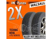 2x 175/65R15 Technic Nova Tyres 175 65 15 Fitting Available