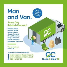 Same day rubbish Collection Junk Waste Removal House and Garden Clearance Commercial/DomesticBelfast