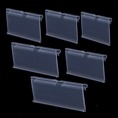 Pack Of 50 Transparent Plastic Merchandise Shelf Price Tag Label Holder For