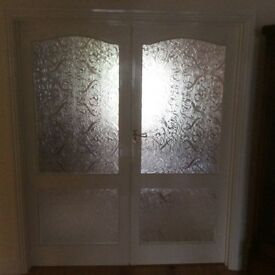 4 x glass interior doors for sale
