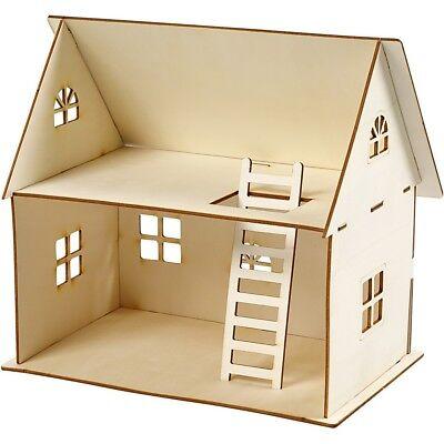 Holz Puppenhaus Haus Minigarten Wichtelhaus Dekohäuser 18x27 cm Gebäude ()