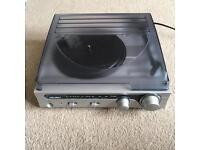 bush record player with built in speakers