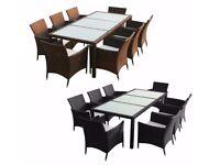 **FREE UK DELIVERY** Elegant 9pc Rattan Garden Conservatory Furniture Set