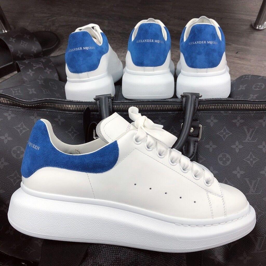 blue alexander mcqueen trainers off 56